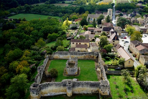 vue chateau molieres drone