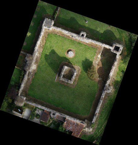 orthophotoplan dessus chateau drone